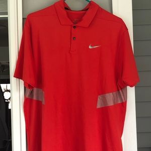 Nike Men's Dri-Fit Golf Polo Size L in Red